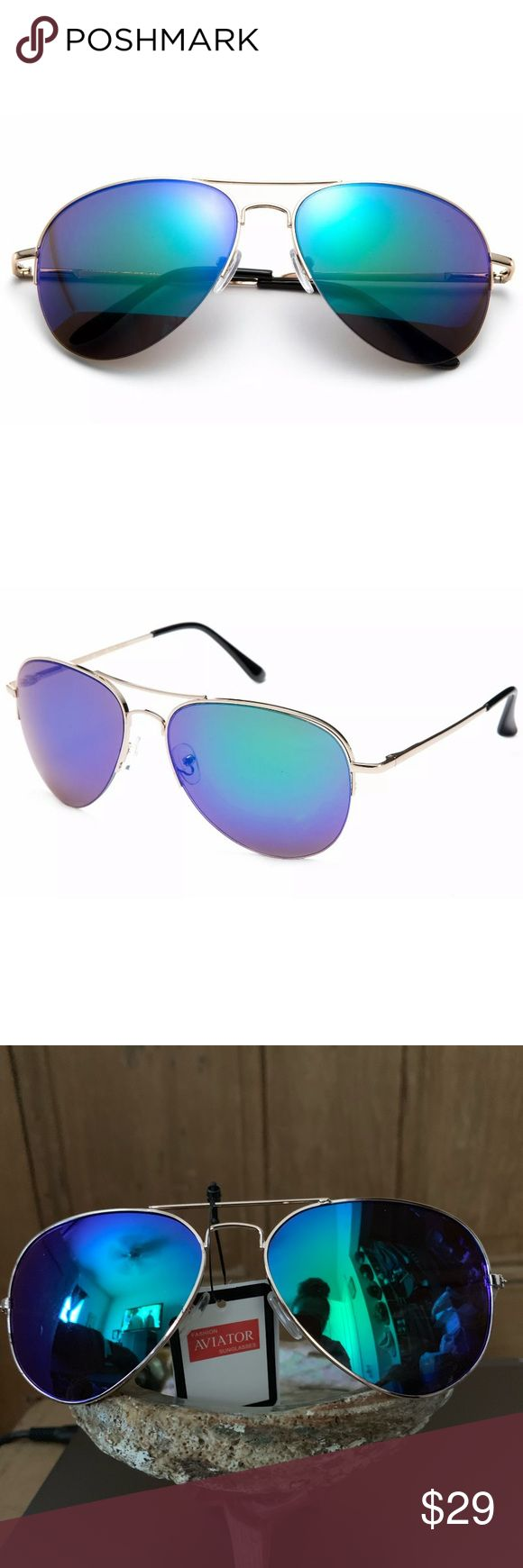 Oculos de sol com lentes aviador com espelho verde Av Newbee Fashion Aviator Sunglasses …   – My Posh Picks
