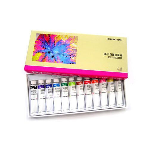 Marbling Paint Art Colorbank Vivid 12 Colors Set 12ml (0.40oz) Tube Dye #ColorBank