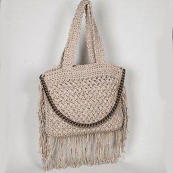 FLOSSIE FRINGED CROCHET BAG