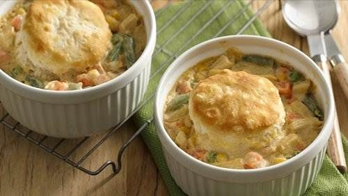 Quick Chicken Pot Pies for Two
