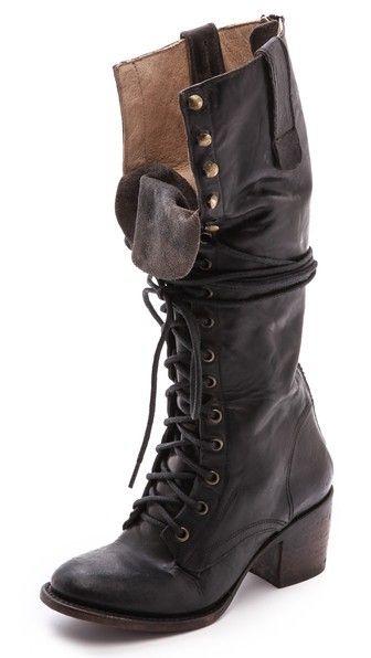 FREEBIRD by Steven Granny Tall Combat Boots $350