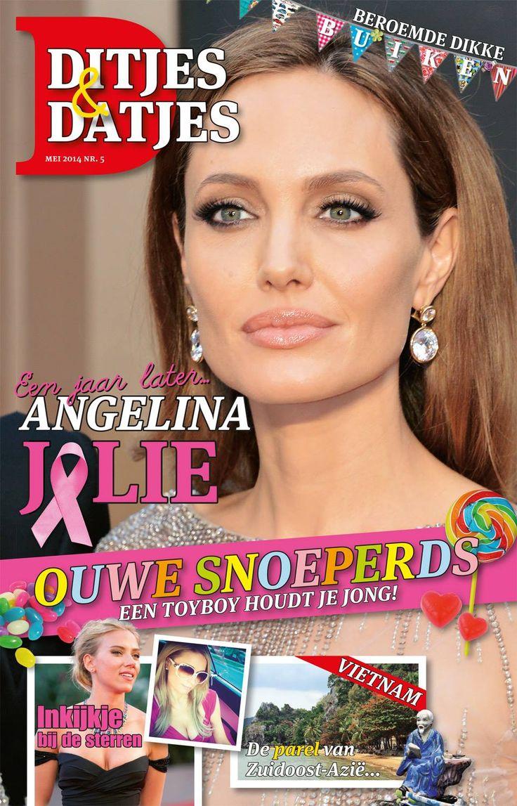 Cover Ditjes & Datjes 5, 2014 met Angelina Jolie. #DitjesDatjes
