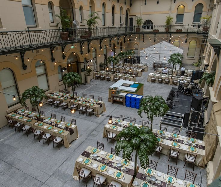 Overhead view of event space