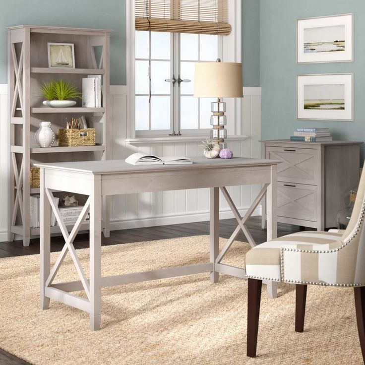 Beachcrest Home Oridatown Desk, Bookcase And Filing