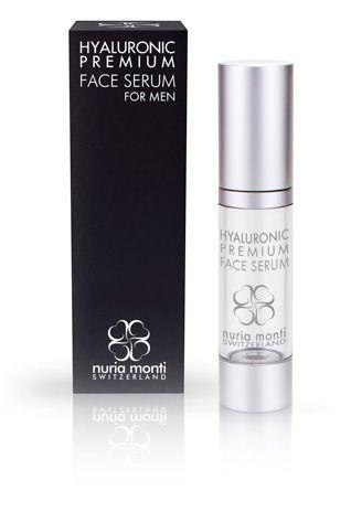 Nuria Monti Hyaluronic Premium Face Serum for men #NuriaMonti #antiaging #serum #bestserum #hyaluronicacid