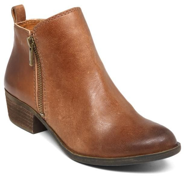 Lucky Brand Basel leather bootie. Stitch Fix 2017 Trends.