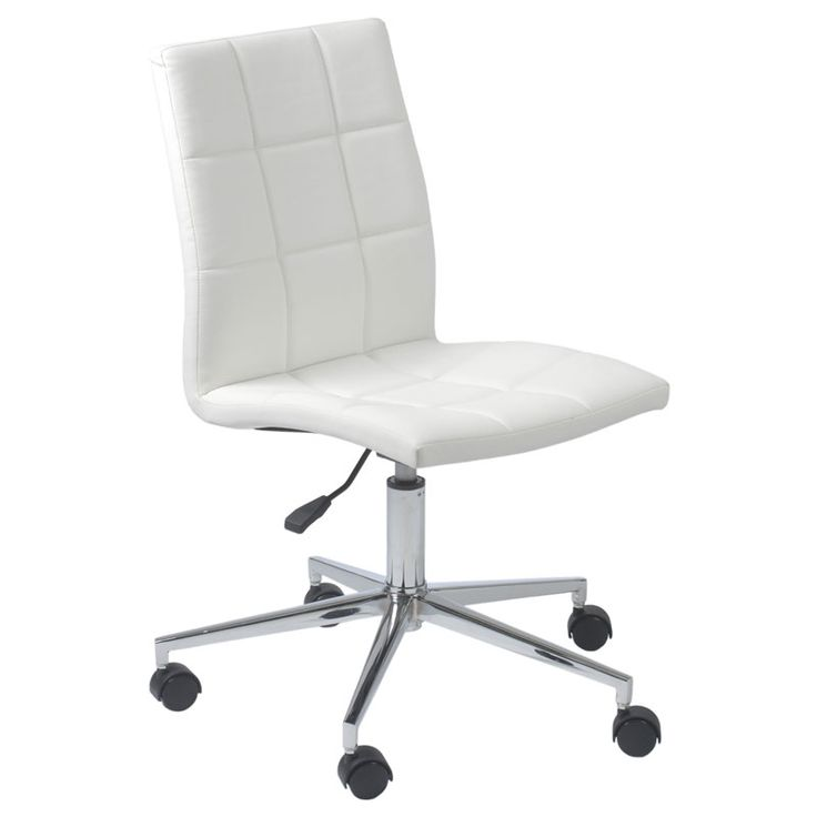 Cybil Office Chair White Desk Chair White Leather Office Chair