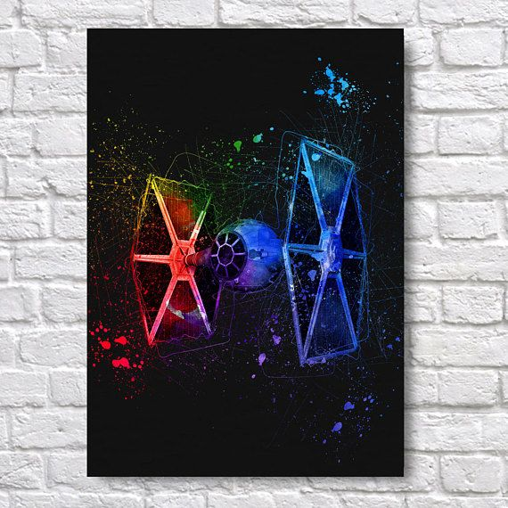 Star Wars TIE Fighter Abstract Painting - A4 Wall Art Prints - Fine Art Posters - One Free Print When Buying 3 or More - Starship Use Coupon Code : ONEFREE to save £5.95(one free print) when you spend over £17.50 in my store. effectively Buy 2 prints and get a 3rd FREE Quality and Details Paper: All posters are printed on Olmec(Innova) Photo Lustre 260gsm, instant dry, fade resistant microporous coated heavyweight RC paper. acid free and water resistant paper. This Paper...