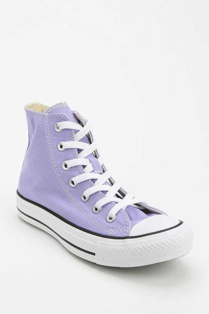 Converse Chuck Taylor All Star Women's High-Top Sneaker in lavender. x x
