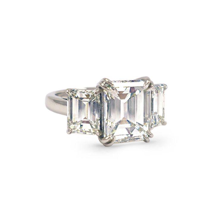 242 best emerald cut diamonds images on