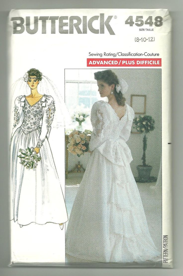 1372 best vintage bridal patterns images on pinterest for Wedding dress patterns vintage