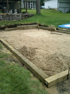 Sand Base For Intex Pool: I Have A 12 X 24 Intex Pool And Hired An  Excavator To Level Out The Slope In My Yard.