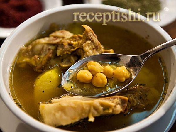 Парча-бозбаш суп с бараниной и нутом