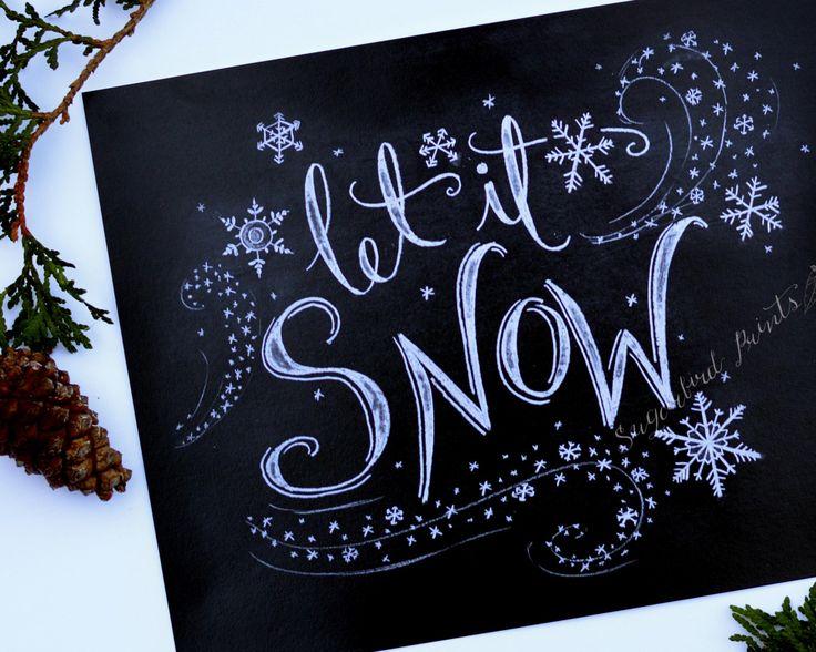 Holiday Sign lassen Sie es Schnee von Sugarbirdprints auf Etsy