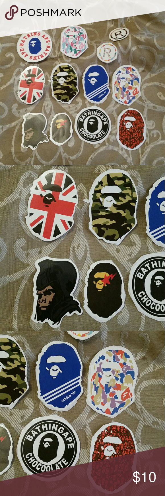 Bape stickers FREE SHIPPING THRU my website c1053t.com. Buyer gets 13 stickers. Supreme Other