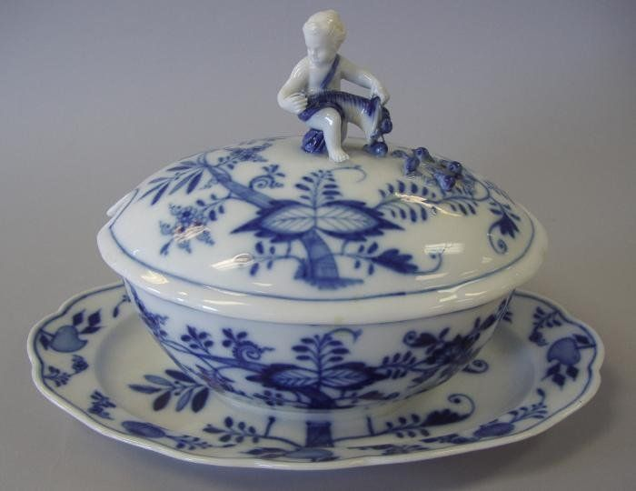 Meissen Blue Onion Figural Tureen