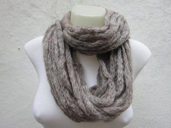 Scarf infinity  Necklace scarf  Long  winter  by scarfnurlu