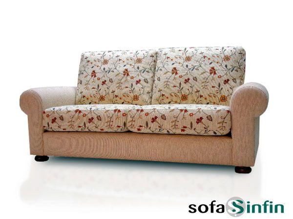 Sofá clásico de 3 y 2 plazas modelo Paris fabricado por De Paula.