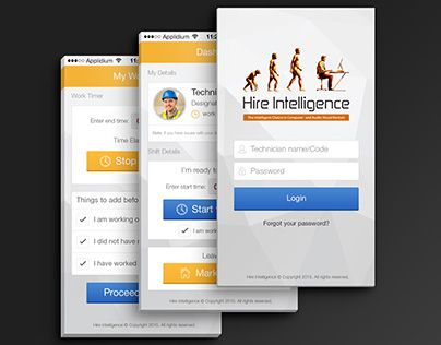 """Check out new work on my @Behance portfolio: """"Employee Time Tracking App"""" http://on.be.net/1iRvhD1"""