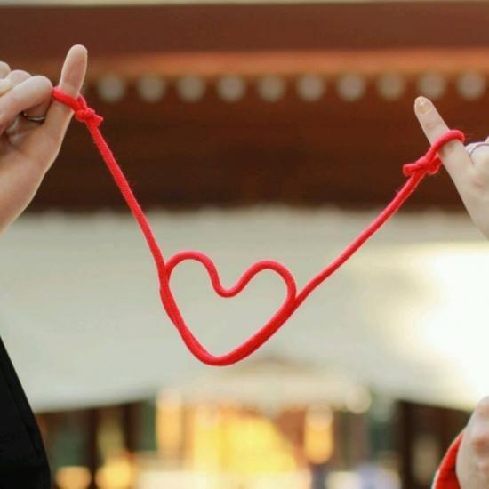 赤い糸 ハート - フォトプロップス・ペーパーストロー・結婚式小物販売 | EYMwedding