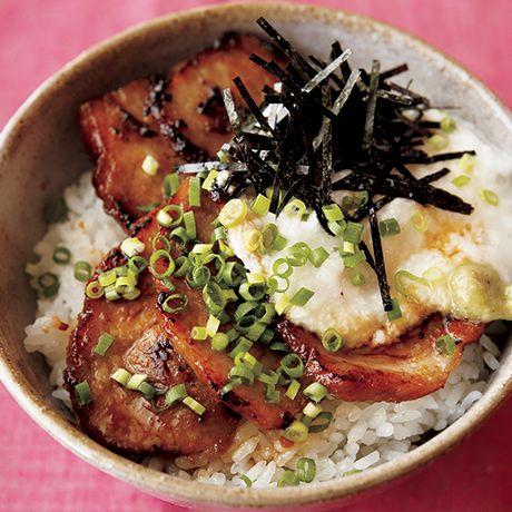 あぶりチャーシューのとろろ丼 | 市瀬悦子さんのどんぶりの料理レシピ | プロの簡単料理レシピはレタスクラブネット