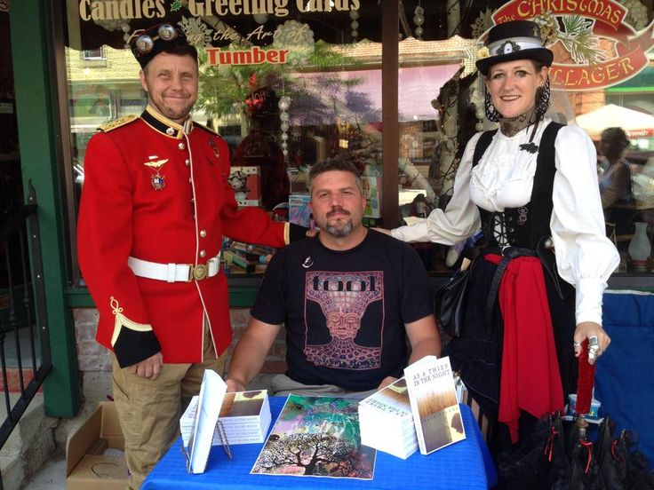 Chuck Crabbe had a great time discussing and signing copies of his novel As a Thief in the Night at Coldwater Steampunk Festival in #Coldwater, #Ontario on August 9!  Learn more about Chuck's novel at http://www.open-bks.com/library/moderns/as-a-thief-in-the-night/about-book.html