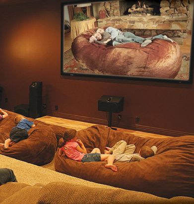 Giant Bean Bag Bed Collection - looks so restful!