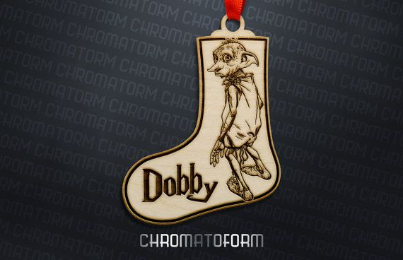 Harry Potter  Dobby la casa duende adorno media por Chromatoform