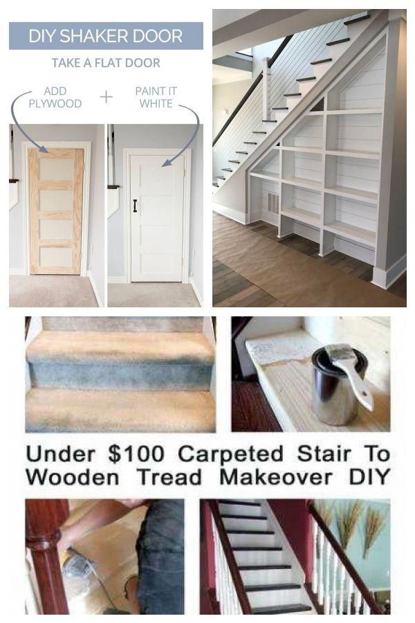 34 Einfache Umbauprojekte Und Ideen Fur Ein Stilvolles Und Gunstiges Home Upgrade Stairsdiy Ein Einfache Fr Gnstiges Home Upgrades Diy Stairs Diy Makeover