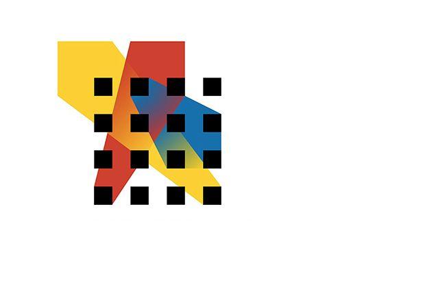 Cuadrícula subyacente del logotipo del 25 aniversario.