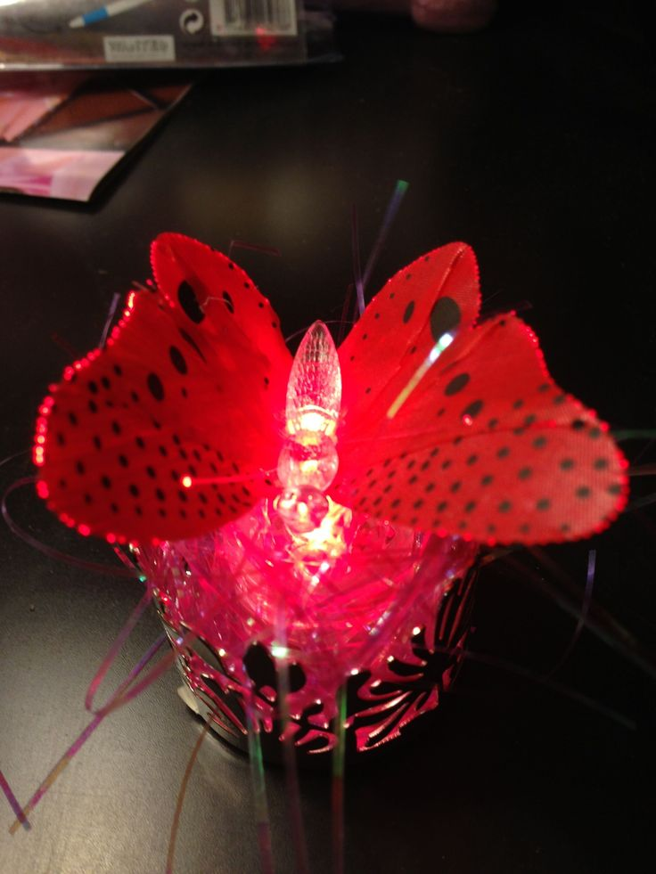 Sparkle Lites Red Butterfly
