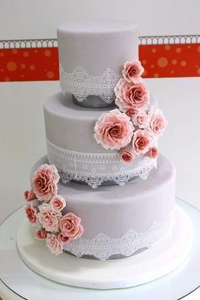 Pastaloji - Kişiye Özel Butik Pasta Tasarımı - Dantel Düğün Pastası