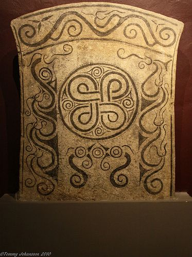 viking Picture stone - look at those waves.