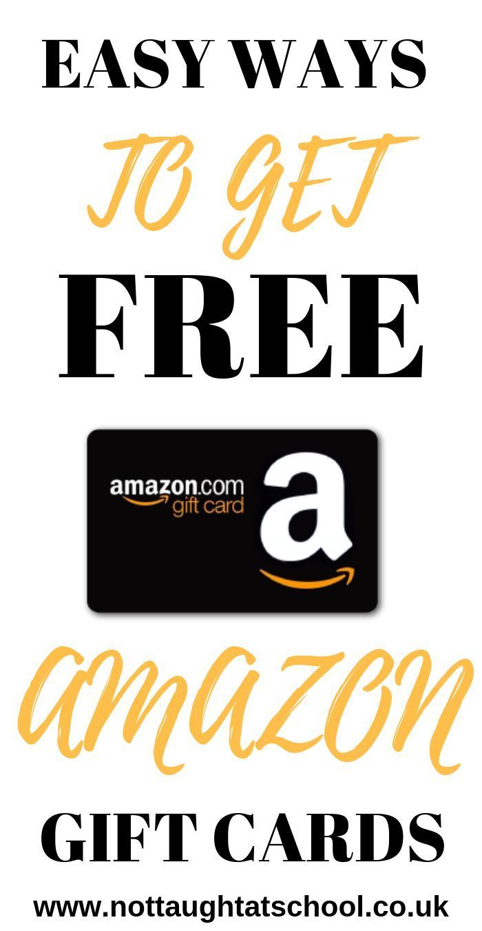 Simple Ways To Get Free Amazon Gift Cards Amazon Gifts Free