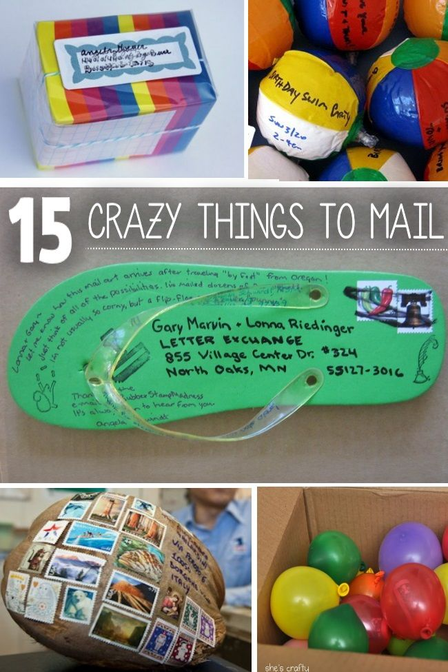 Put a smile onto someone's face by mailing something fun and unique. So many things you never knew you could put in the mail!