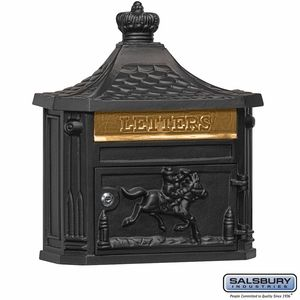 Salsbury 4460BLK Victorian Mailbox Surface Mounted Black