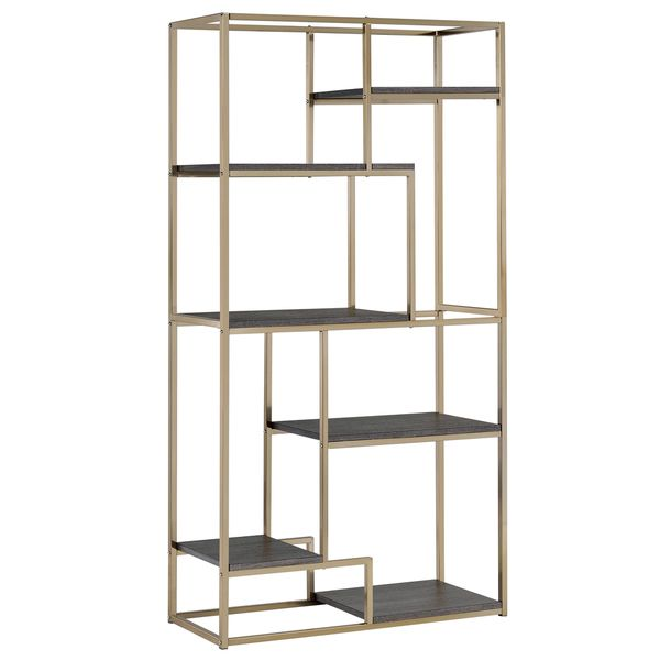 Pin By Reham Hany On Open Shelving: Furniture Of America Nara Contemporary 6-Shelf Tiered Open