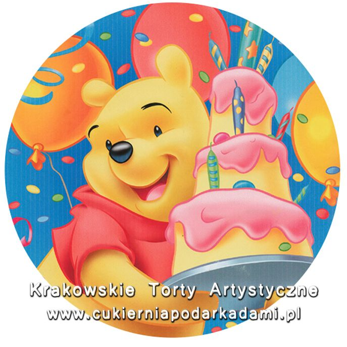 095. Fototort z Kubusiem Puchatkiem. Winnie the Pooh photocake.