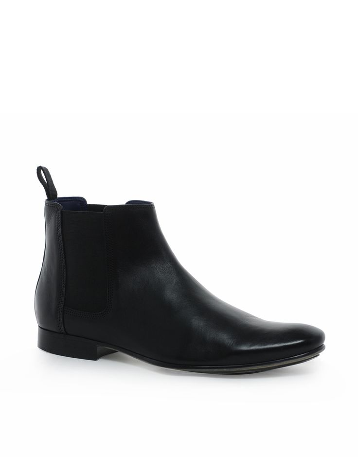 €88, Botines Chelsea de Cuero Negros de Frank Wright. De Asos. Detalles: https://lookastic.com/men/shop_items/69370/redirect