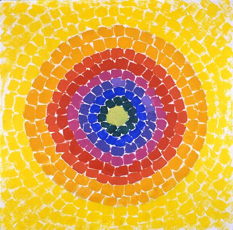 "Resurrection, 1966; acrylic on canvas  36"" x 36"" signed and dated, Alma Thomas"