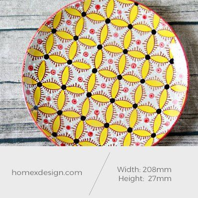 Ceramic colorful yellow L plate (2 pieces)