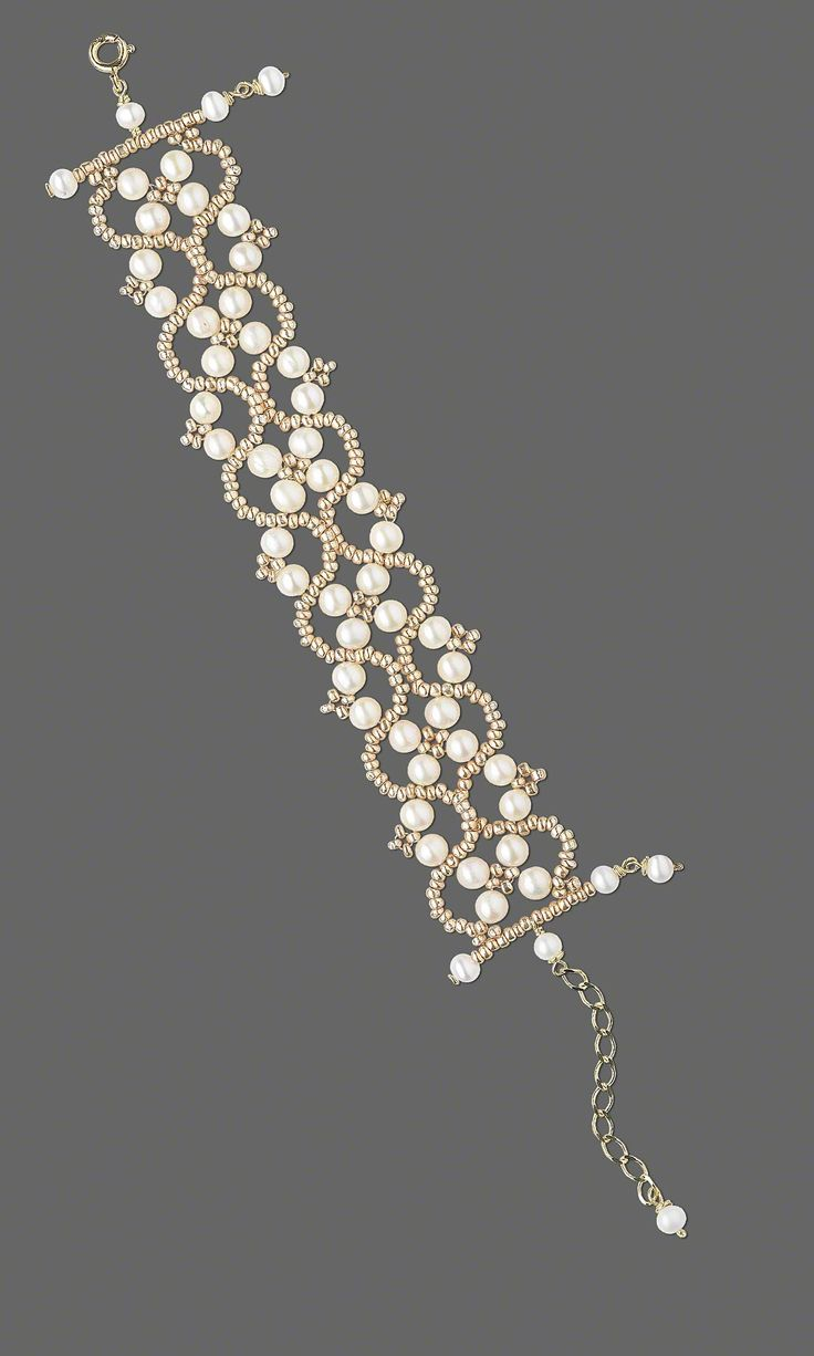 Jewelry Design - Bracelet with White Lotus™ Cultured Freshwater Pearls and Gold Seed Beads - Fire Mountain Gems and Beads
