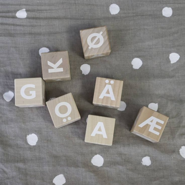 What word would you spell with our blocks if you had one block with the letters Å, Ä, Ö, Ü, Ø and Æ? . www.ooh-noo.com