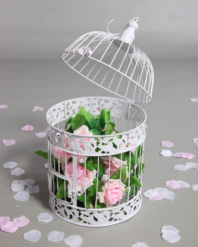 Cheap decorative cream bird cages for weddings autos post for Artificial birds for decoration
