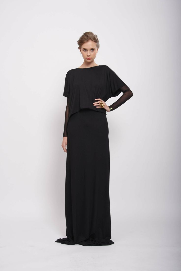 "Black ""DOUBLE"" dress  Design: Lucie Kutálková, LEEDA store"