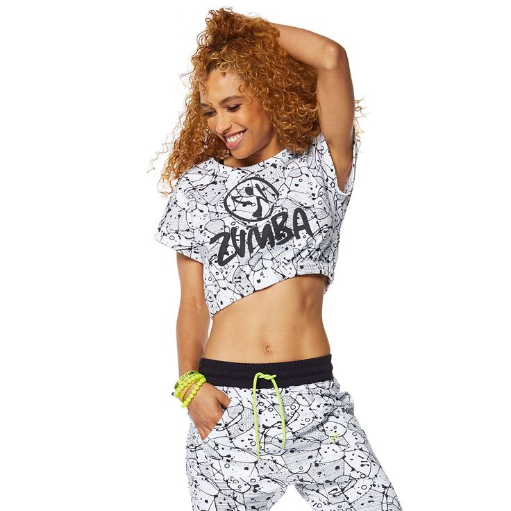 BE BOLD BUBBLE CROP TOP - WEAR IT OUT WHITE ------------------- Break the mold in the Be Bold Bubble Crop Top! All over lightweight French terry fabric combined with a cropped silhouette makes for one sizzling summer top! Zumba Crop Top.