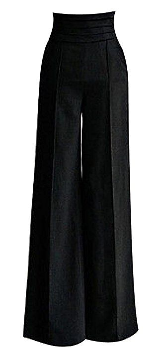 HKJIEVSHOP Women Sexy Casual High Waist Flare Wide Long Pants Palazzo Trousers