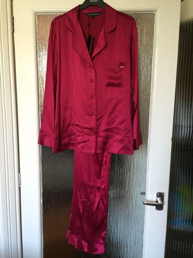 M&S ROSIE AUTOGRAPH ladies PYJAMA 100%SILK UK10 EU38 BNWT LUXURY RRP£99 Crimson