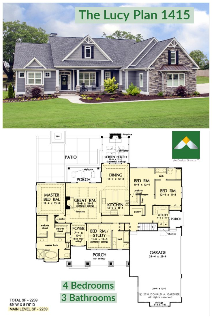 The Lucy Home Plan 1415 Ranch Home Floor Plans Dream House Exterior Floor Plans Ranch