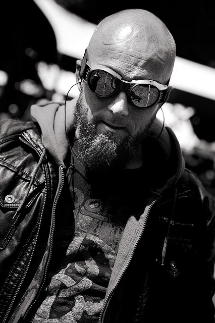 Bald Bearded Man with Goggles : Bald Men of Style